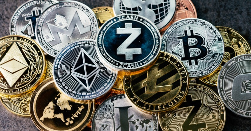Ethereum , Bitocin , Litecoins & other cryptocurrency coins being displayed