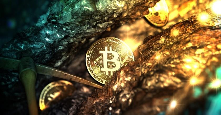 bitcoin in a gold mine